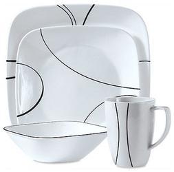 Corelle® Square Simple Lines 16-pc. Dinnerware Set