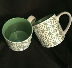Stackable Coffee Mugs Green Coffee Cups Stackable Mugs Set o