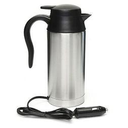12V 750ml Stainless Steel Car Electric Heating Mug Drinking