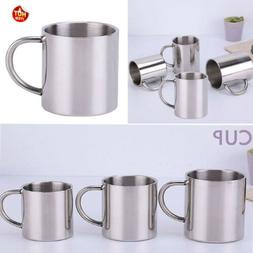 Stainless Steel Coffee Tea Cup Mug Camping/Travel Outdoor Dr