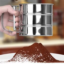 New Stainless Steel Flour Sieve <font><b>Mugs</b></font> Des