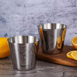 Stainless Steel French Fry Cup Drinking Cups Metal Drinking