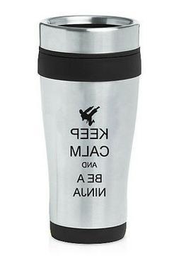 Stainless Steel Insulated 16oz Travel Mug Coffee Cup Keep Ca