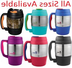 Stainless Steel Insulated Coffee Mug Handle Lid Tea Classic
