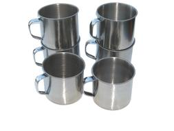 Lot of 6 Stainless Steel 16 oz Mugs Cups - Camping, Outdoors