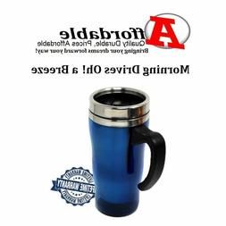 Stainless Steel Travel Coffee Mug With Handle Spill Proof Gu