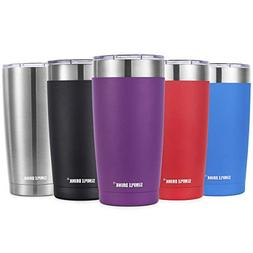 SIMPLE DRINK 20oz Stainless Steel Tumbler with Splash-Proof