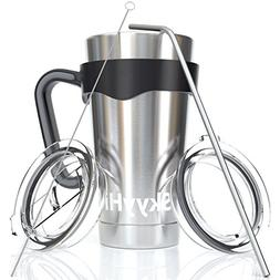 6-Piece Stainless Steel Vacuum Insulated Tumbler Set , Tea C