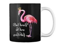 Stand Tall And Be Fabulous Funny Pink Fl Gift Coffee Mug