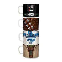 Vandor Star Wars 4 Piece Stacking Ceramic Mug Set