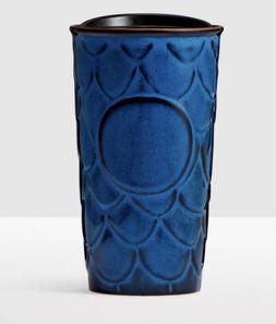 Starbucks Anniversary 2017 Scale Pattern Navy Blue Double Wa