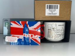 Starbucks Holiday London England 2oz YAH Ornament Mug+Big Be