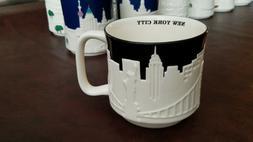 Starbucks NEW YORK v1 Mug BLACK CITY RELIEF Collector Series