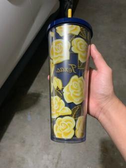 starbucks yellow rose of texas tumbler mug