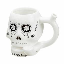 Stoner Girl White Ceramic Coffee Tea Pipe Mug