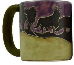Mara Stoneware Mug - Wolves   16 oz - Round Bottom