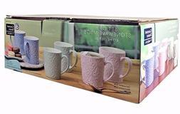 Gourmet Basics by Mikasa - Set of 6 Stoneware Mugs
