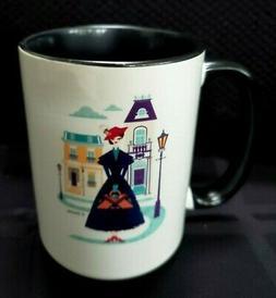 DIsney Store MARY POPPINS Coffee Mug Two-Tone 15 Oz New Fast