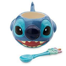 Disney Store Stitch Coffee Mug and Spoon Set 2015