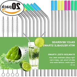 AROIC Straws-16 Set of 16 Stainless Steel Ultra Long 10.5 In