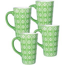 Pfaltzgraff Studio Set of 4 Mugs, Green