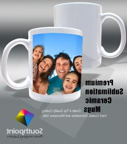 Sublimation Ceramic Mugs 11oz Grade AA Bright White Pearl Co