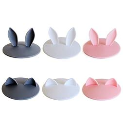 Super Cute Silicone Cup Lids Mug Cover, Soft Rabbit Cat Ear