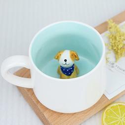 Surprise 3D Cartoon Miniature Animal Coffee Cup Mug with Bab