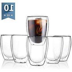 Sweese Mug Sets 4302 Glass Coffee Mugs, Double Wall Insulate