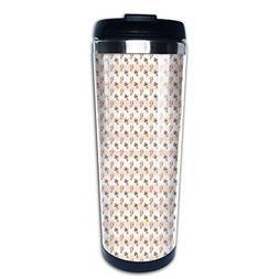 Tasty Ice Cream Pattern Coffee Tumbler Thermal Mug Travel Mu