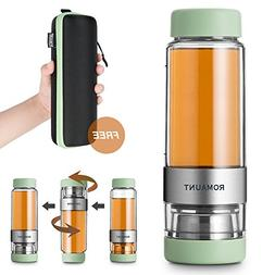 Tea Infuser Bottle Tumbler Travel Mug ROMAUNT Twist Valve Sy