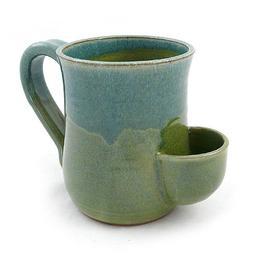 Modern Artisans Tea Mug - Hand-Sculpted Stoneware with Tea B
