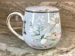 Tea Mug Set Includes Lid And Infuser Natural Elements Blue B