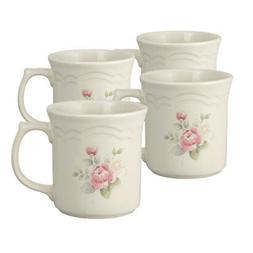 Pfaltzgraff Tea Rose Set of 4 Mugs