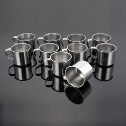 Tea Travel Metal Tumbler Pint Camping Portable Cup Coffee Mu
