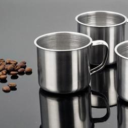 Tea Tumbler Pint Metal Drinking Coffee Mug Stainless Steel P