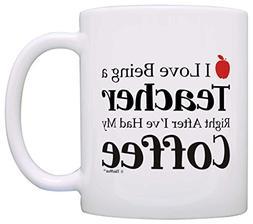 Teacher Appreciation Gift Love Being Teacher After Coffee Co