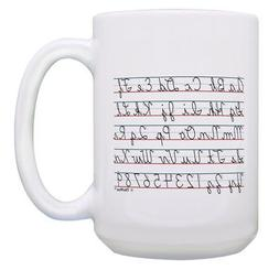 Teacher Gift Cursive Alphabet Gift for Teachers 15oz Coffee