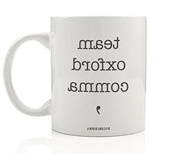 Team Oxford Comma Mug, Literary Writer Journalist Grammar Ne