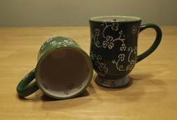 Temp-tations Floral Lace Shamrock Set of 2 Mugs with Lid-It