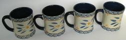 TARA Temp-tations Old World Blue Large 16 oz Mugs Lot of 4 E