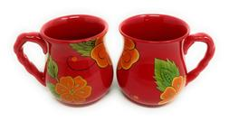 Temp-tations Set of 2 Mugs, Coffee Mug, Poppy Red, Dinnerwar
