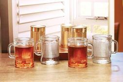 """Circleware """"Canned"""" Tempered 176 Degree Hot/cold Glass Drink"""