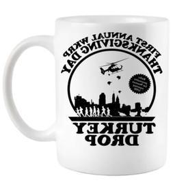 Thanksgiving WKRP Turkey Drop Coffee Mug Thanksgiving Mug