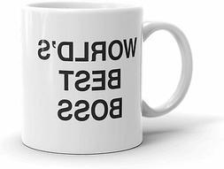 The Office World'S Best Boss Dunder Mifflin Ceramic Mug Funn