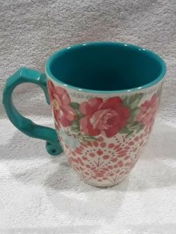 "The Pioneer Woman ""Vintage Floral"" 28-Ounce Teal Jumbo Latte"