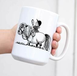Thelwell Penelope Riding A Pony Coffee Mug Tea Mug White
