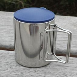 Thermal Camping Travelling Mug Cup Stainless Steel Water Cup