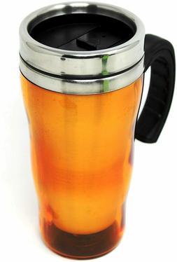 Thermal Travel Mug Hot Orange Great for Working Men Spill Pr
