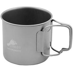 TOAKS Titanium 375ml Cup with Folding Handles - CUP-375 - Ou